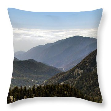 A Lofty View Throw Pillow by Ed Clark