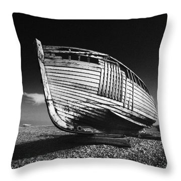 A Lonely Boat Throw Pillow