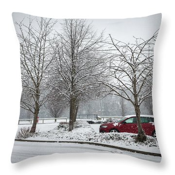 A Lonely Commute Throw Pillow