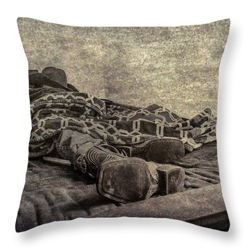 A Long Day On The Trail Throw Pillow