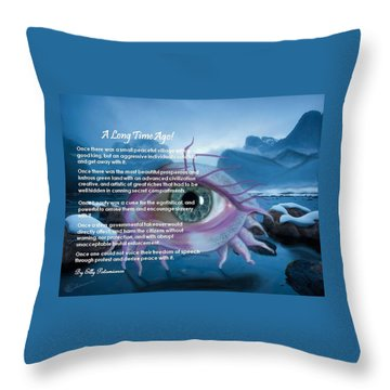 A Long Time Ago Throw Pillow