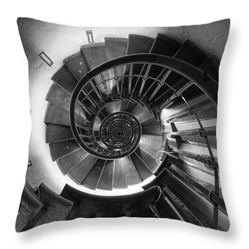Throw Pillow featuring the photograph A Long Way Down by Quality HDR Photography
