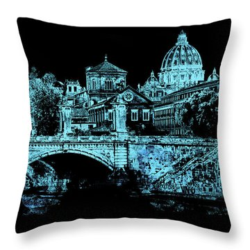 A Look At History - Rome 2 Throw Pillow by Andrea Mazzocchetti