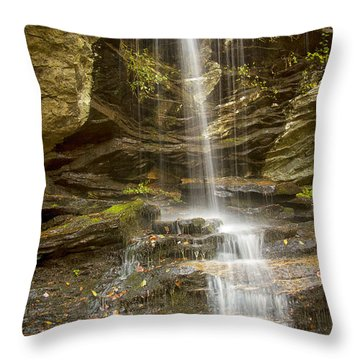 A Look At Window Falls Throw Pillow