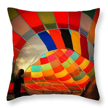 A Look Inside Throw Pillow