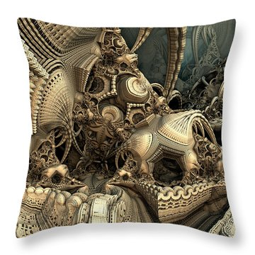 A Lot Of Hidey Holes Throw Pillow