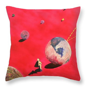 A Lot To Think About Throw Pillow by Thomas Blood