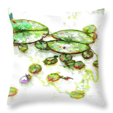 A Lotus Leaf Throw Pillow by Lanjee Chee