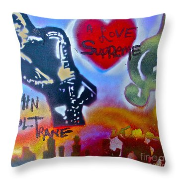 A Love Supreme Throw Pillow by Tony B Conscious