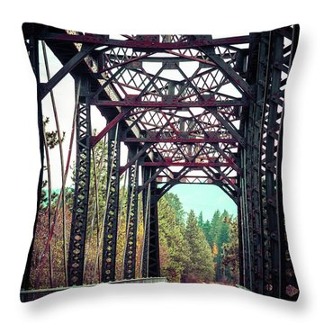 Throw Pillow featuring the photograph A Lovely Path by Mary Hone