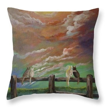 A Lovers Moon Throw Pillow