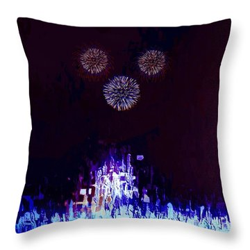Throw Pillow featuring the painting A Magical Night by Mark Taylor