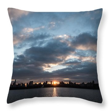 A Manhattan Sunset Throw Pillow