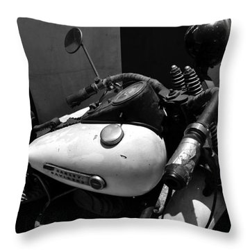 A Mans Harley Throw Pillow by David Lee Thompson