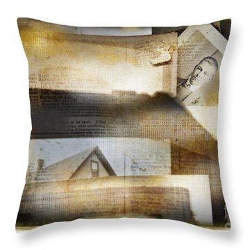 A Man's Story Throw Pillow