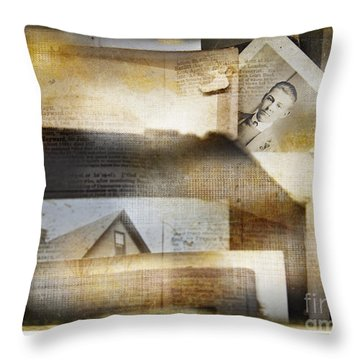 Throw Pillow featuring the photograph A Man's Story by Craig J Satterlee