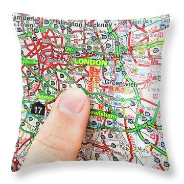 A Map Of London Throw Pillow