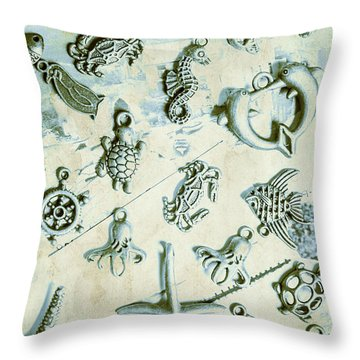 A Maritime Design Throw Pillow