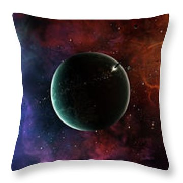 A Massive And Crowded Universe Throw Pillow by Brian Christensen