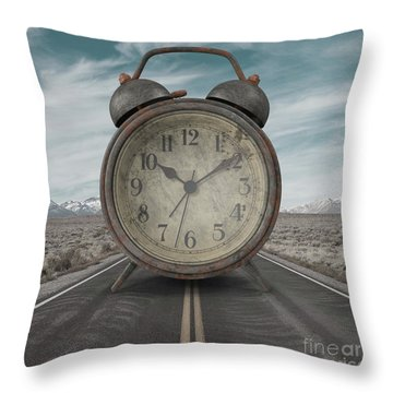 Throw Pillow featuring the photograph A Matter Of Time Surreal by Edward Fielding