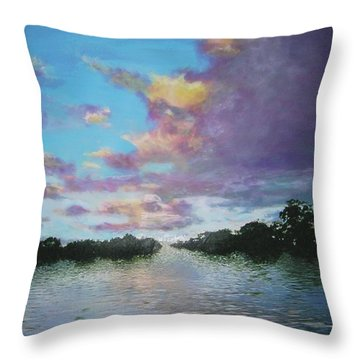 A Mauve Day Throw Pillow by Marie-Line Vasseur