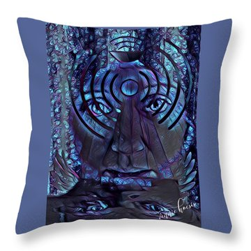 A Medium For Other People's Trauma Throw Pillow by Vennie Kocsis