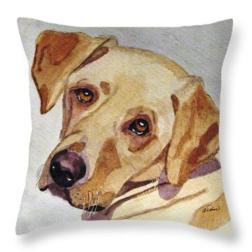 A Mellow Yellow Throw Pillow