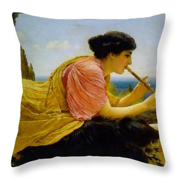 A Melody  Throw Pillow by John William Godward
