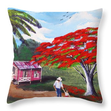 A Memorable Walk Throw Pillow