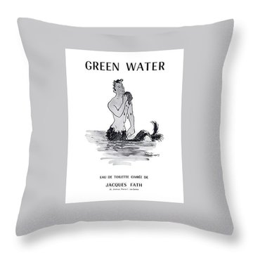 Throw Pillow featuring the digital art A Merman by ReInVintaged