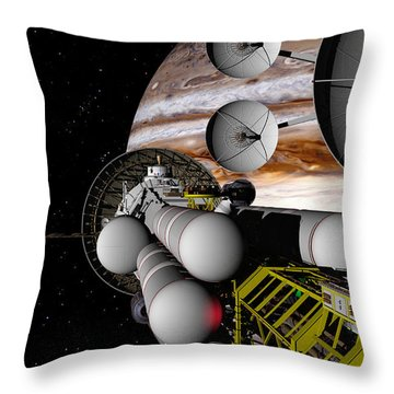A Message Back Home Throw Pillow