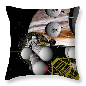 Throw Pillow featuring the digital art A Message Back Home by David Robinson