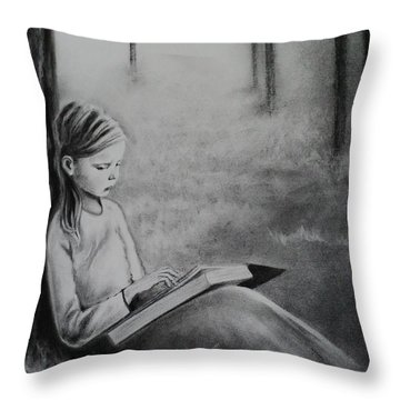 A Mid Summers Tale Throw Pillow by Carla Carson