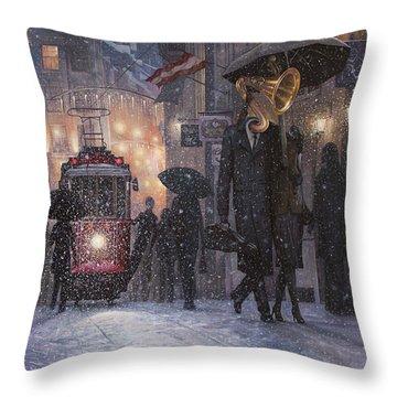 A Midwinter Night's Dream Throw Pillow