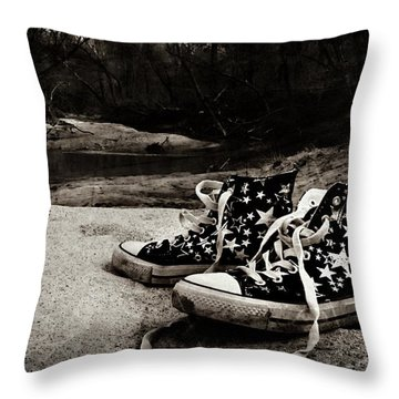 Throw Pillow featuring the photograph A Mile In My Shoes by Jessica Brawley