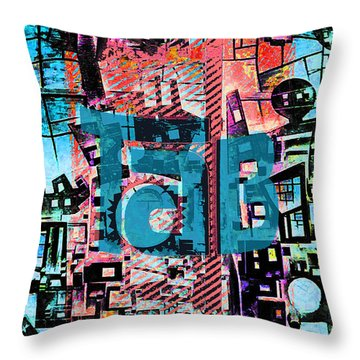 Throw Pillow featuring the mixed media A Million Colors One Calorie by Tony Rubino