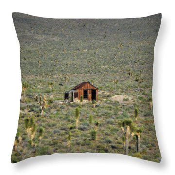 A Miner's Shack Throw Pillow