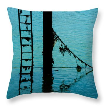 Throw Pillow featuring the photograph A Modicum Of Maritime Minimalism by Chris Lord