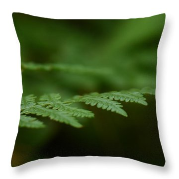 Throw Pillow featuring the photograph A Moment In The Forest by Lisa Knechtel