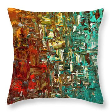 A Moment In Time - Abstract Art Throw Pillow