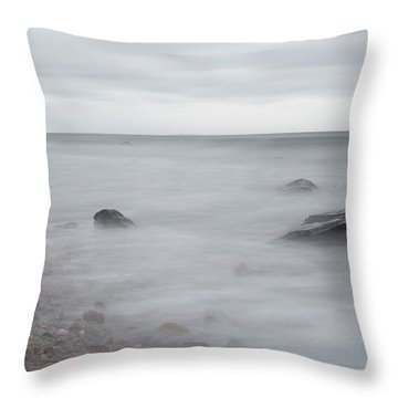 Throw Pillow featuring the photograph A Moment In Time On The Beach by Andrew Pacheco