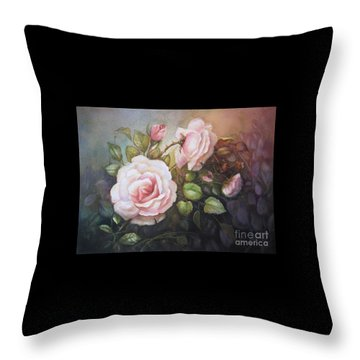 A Moment In Time Throw Pillow by Patricia Schneider Mitchell