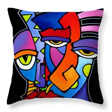 A Moment - Original Abstract Art Throw Pillow