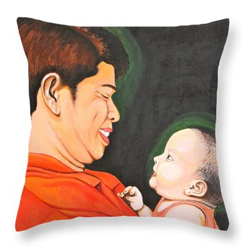 A Moment With Dad Throw Pillow