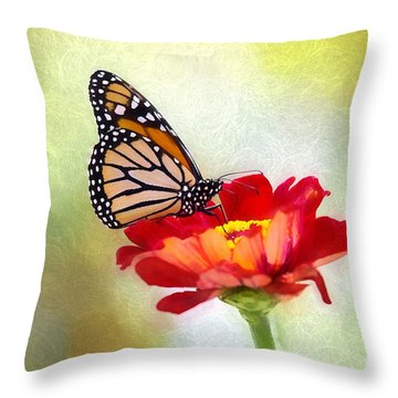 A Monarch Moment Throw Pillow
