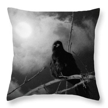 A Moonlicht Nicht Throw Pillow
