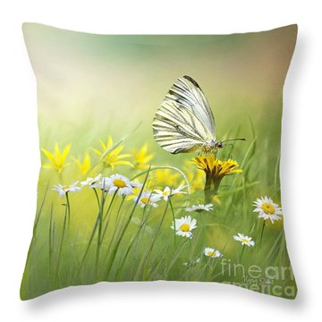Light Wings Throw Pillow