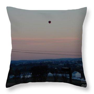 A Morning Hot Air Balloon Ride Throw Pillow