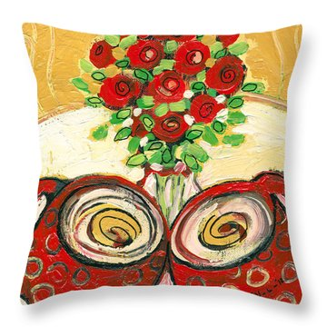 A Morning Toast To Romance Throw Pillow