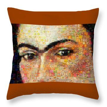Throw Pillow featuring the photograph A Mosaic Of Life Thru Her Eyes by Paula Ayers